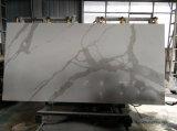 A China por grosso de tamanho grande preço de fábrica 18mm 2cm 30mm 3 cm de Ouro e White Calacatta Laje de Pedra de quartzo, Calacatta 20mm