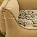 Base di sofà di lusso beige del cane dell'OEM della fabbrica con l'ammortizzatore smontabile