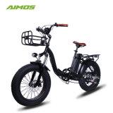 2017 nuevo mini portátil E-Bike 4.0 bicicleta eléctrica plegable neumático Fat