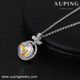 Necklace-00421 Xuping kundenspezifisches Firmenzeichen kundenspezifische Halsketten-Kristalle von Swarovski