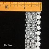 ткань шнурка простирания жаккарда полиэфира оптовой продажи 4.5cm с геометрическим солнцецветом Hmw6239