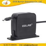 2 a 1-1,5 м выдвигаемая длина прочного Wall-Mounted рекламных втягивающийся кабель USB мотовила