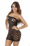 Bébé chaud de maille de lingerie sexy de Lenceria de coton d'élasticité - la lingerie érotique de robe de poupée pour le sexe de femmes costume des sous-vêtements de Fishnet