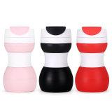 Sin BPA de gran volumen de taza de café plegable reutilizable con el ejercicio
