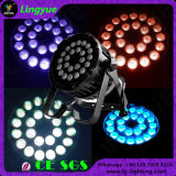 24X10W RGBW 4in1 동위 LED 야외 무대 점화