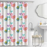 2018 New Design Customized 100% Polyester Shower Curtain for Home Bathroom