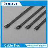 Ataduras de cables de autoretención del acero inoxidable de la muestra libre con la capa 7.9X800m m