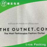 La coutume personnalisée a estampé la couverture non tissée noire de procès de sac de vêtement/de sac pp bride de fixation de vêtement