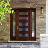 بيع بالجملة يدخل يليّن زجاج أبواب صلبة مزدوجة خشبيّة خارجيّة