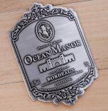 Custom металлические винной этикетке/металла этикетке флакона