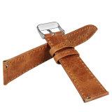 Crazy Horse cuero retro de la banda de reloj pulsera Muñequera el marco de metal para Fitbit Blaze