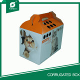 손잡이를 가진 주문을 받아서 만들어진 색깔 종이 고양이 박스