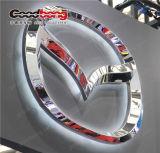La publicité acrylique blanche de logo de véhicule du cadre DEL de signe
