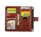Caja del teléfono móvil del cuero genuino de Brown para el iPhone/Samsung