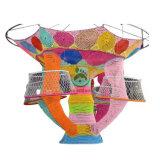 Kundenspezifisches Regenbogen-kletterndes Seil-Nettospiel-Handgewirktes kletterndes Innennetz