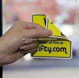 Impresión estática de la etiqueta engomada del vinilo de las etiquetas de la película doble de encargo de la ventana lateral