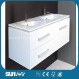 Vanité de salle de bains de forces de défense principale de peinture avec le bassin (SW-W1500B)