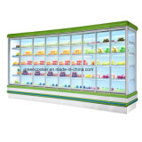 Werbungs-geöffnete Luft-Kühlvorrichtung-Kühlraum-Fleisch/Gemüsebildschirmanzeige-Kühler für Supermarkt