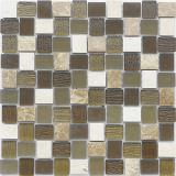 Mosaico de piedra natural de 25 * 25m m / mosaico de mármol