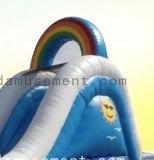 Trasparenza di acqua gonfiabile di tema del Rainbow con il gioco di raggruppamento in estate