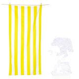 De Handdoek van de Sporten van het Bad van de Reis van het Strand van Microfiber van de Druk van de streep