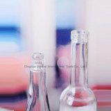 bottiglia di vetro del vino di figura di bowling 500ml con sughero, protezione di plastica