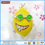 Encanto divertido caliente del limón de la joyería 3D de la manera de la venta