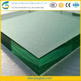 Изготовленный на заказ стекло размера ультра ясное 15mm закаленное прокатанное