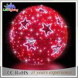 Свет стеклянного шарика рождества красного цвета СИД CE/RoHS крытый