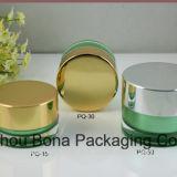 Vaso della crema di cura personale glassato del coperchio di alluminio