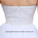 Luxuxhochzeits-Kleid perlt volles Qualitäts-Robe-Hochzeits-Kleid
