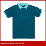 Customzied weiße Baumwollstarkes Mens-Leerzeichen-Polo-Hemd (P27)