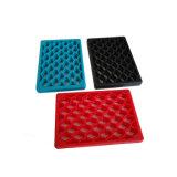 Soem mit Rippen versehene Gummitür-Matte mit dem Beleg, der Muster und abgeschrägten Rand verhindert