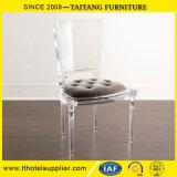 Cadeira de jantar transparente de cristal acrílica luxuosa da fábrica chinesa