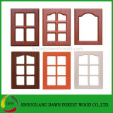 Einfacher Entwurfs-Schrank-Holz-Glastür-Entwurf