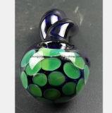 Blaues Rohr-Glaspfeife des grünen Bienenwabe-Filters
