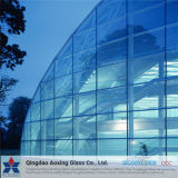 6+9A+6mm plano/borrar/doble cristal aislante de color para la pared de cortina