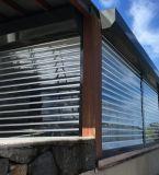 Селитебный домашний прозрачный поликарбонат свертывает вверх дверь штарки