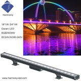 Diseño inteligente RGB de alta potencia LED de larga duración de IP65 bañador de pared