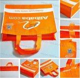Il tessuto non tessuto amichevole riutilizzabile di Eco dei regali promozionali pieghevole trasporta il sacchetto di Tote di acquisto (m. 102 del M.Y)