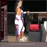 2018 femmes Vêtements Halterneck Cocktail d'été Jumpsuit Sport costume (TOSM4017)