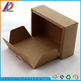 Preiswerter Packpapier-verpackengeschenk-Kasten Querstreifen-Oberseitebrown-
