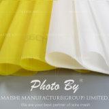 Maille blanche et jaune d'impression de couleur