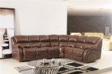 余暇のイタリアの革ソファーの家具(850)