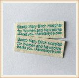 Escrituras de la etiqueta de vestir barato tejidas de la marca del OEM