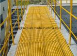 FRP литые решетки для платформы Chemiccal/траншея/удаление сточных вод/дерева решеток сепаратора