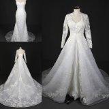 Mermaid шнурка высокого качества платье венчания Sy7025 мантии отделяемого изготовленный на заказ Bridal