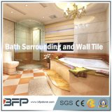 浴室の包囲のための優雅なベージュ自然な石または大理石のタイル