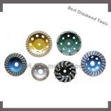 Roda de moedura do copo do diamante para o concreto de lustro da ferramenta abrasiva
