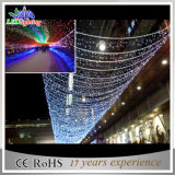 Luz da cortina do diodo emissor de luz da decoração do indicador do Natal do casamento